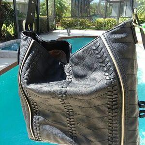 STEVE MADDEN Beautiful Black Large Tote Handbag